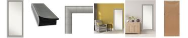 """Amanti Art Elegant Brushed Framed Floor/Leaner Full Length Mirror, 28.75"""" x 64.75"""""""