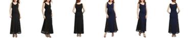 kimi + kai Elizabeth Maternity Lace Accent Maxi Dress