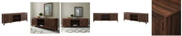 Walker Edison Modern Farmhouse Wood TV Stand