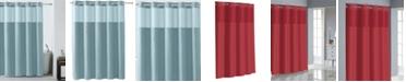 Hookless Basketweave Shower Curtain with Peva Liner