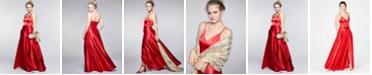 Sequin Hearts Juniors' Double-Strap Gown