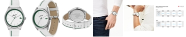 Lacoste Men's Heritage White Leather Strap Watch 42mm