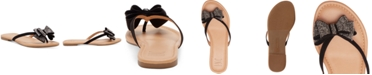 INC International Concepts INC Women's Mabae Bow Flat Sandals, Created For Macy's