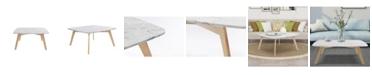 "Cenports Vezzana 31"" Square Italian Table with Oak Legs"