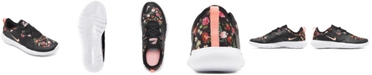 Nike Girls Flex Contact 3 Vintage Inspired Floral Slip-On Running Sneakers from Finish Line