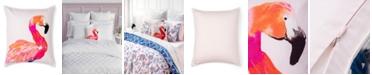 "Martha Stewart Collection Coco Flamingo Decorative Pillow, 18"" x 18"""