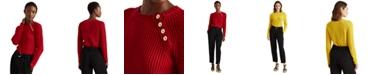 Lauren Ralph Lauren Shoulder-Button Sweater