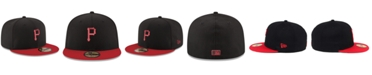 New Era Pittsburgh Pirates Black & Red 59FIFTY Fitted Cap