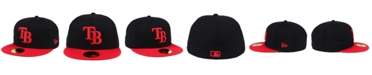 New Era Tampa Bay Rays Black & Red 59FIFTY Fitted Cap