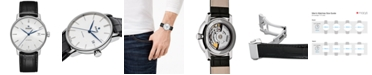 Rado Men's Swiss Automatic Coupole Classic Black Leather Strap Watch 38mm