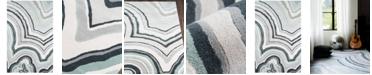 "Novogratz Collection Novogratz by Momeni Delmar DEL10 Blue 2' 3"" x 8'  Runner Area Rug"
