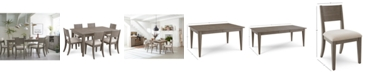Furniture Tribeca Grey Expandable Dining Furniture, 7-Pc. Set (Dining Table & 6 Side Chairs), Created for Macy's