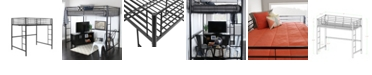Walker Edison Premium Metal Full Size Loft Bed - Black