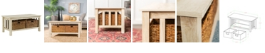 """Walker Edison 40"""" Wood Storage Coffee Table with Totes"""