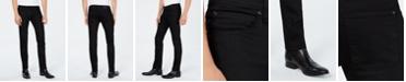 HUGO Men's Slim-Fit Charcoal Black Jeans
