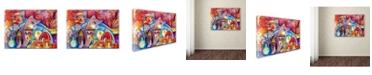 "Trademark Global Oxana Ziaka 'Florence Cats' Canvas Art - 19"" x 14"" x 2"""