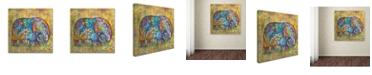"""Trademark Global Oxana Ziaka 'Runes Elephant' Canvas Art - 14"""" x 14"""" x 2"""""""