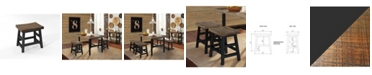 """Alaterre Furniture Pomona - Reclaimed Wood 20""""H Barstool with Metal Legs"""