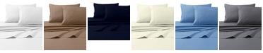 Tribeca Living 300 Thread Count Cotton Percale Extra Deep Pocket Sheet Set