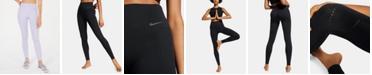 Nike Dri-FIT Crochet-Trim High-Rise Seamless Leggings