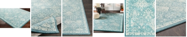 """Abbie & Allie Rugs Morocco MRC-2316 Teal 18"""" Area Rug Swatch"""