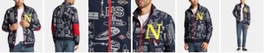 Nautica Nautica Men's Big & Tall Blue Sail Printed Track Jacket, Created for Macy's