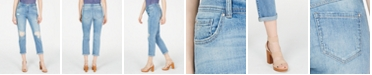 INC International Concepts I.N.C. Lace-Detailed Boyfriend Jeans, Created for Macy's