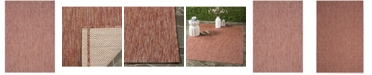 "Safavieh Courtyard Red 5'3"" x 7'7"" Sisal Weave Area Rug"