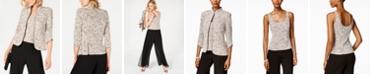 Alex Evenings Printed Jacket and Top Set, Regular & Petite Sizes