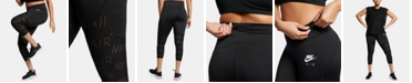 Nike Plus Size Air Cropped Running Leggings