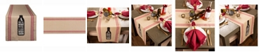 """Design Imports Wine and Sunshine Table Runner 14"""" X 72"""""""