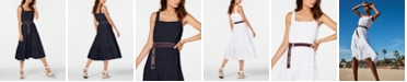 Tommy Hilfiger Cotton Eyelet Midi Dress, Created for Macy's
