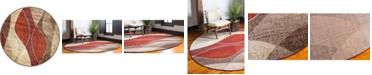 "Bridgeport Home Jasia Jas04 Multi 3' 3"" x 3' 3"" Round Area Rug"