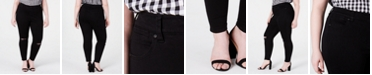 Celebrity Pink Trendy Petite Plus Size High-Rise Distressed Skinny Ankle Jeans