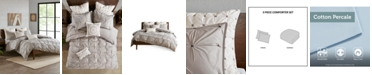 INK+IVY Masie King/Cal King 3 Piece Elastic Embroidered Cotton Duvet Cover Set