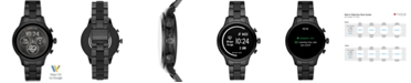 Michael Kors Access Unisex Runway Black IP Stainless Steel and Black Silicone Bracelet Touchscreen Smart Watch 41mm, Powered by Wear OS by Google™