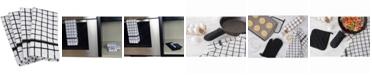 Design Imports Windowpane Terry Dishtowel, Set of 4