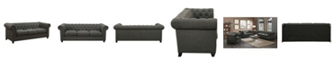 Coaster Home Furnishings Roy Button-tufted Sofa with Rolled Back and Arms