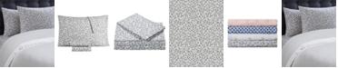 Juicy Couture Silver Leopard 4-Piece King Microfiber Sheet Set