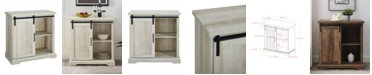 Walker Edison Modern Farmhouse Grooved Door Accent TV Stand