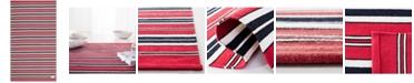 Lauren Ralph Lauren Leopold Stripe LRL2462E Red 9' X 12' Area Rug