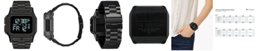 Nixon Men's Digital Regulus Black Stainless Steel Bracelet Watch 46mm