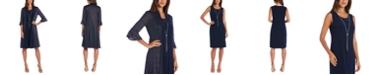 R & M Richards Petite Sparkly Necklace Sheath Dress & Jacket