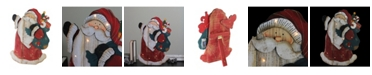 """Northlight 19.5"""" Wooden Standing Santa Claus LED Lighted Christmas Decoration"""
