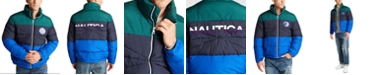 Nautica Men's Blue Sail Tempasphere Insulated Colorblock Jacket, Created For Macy's