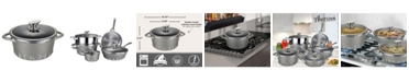 """Amercook Die Cast Aluminum Round Casserole Lid with Induction Bottom 8.7"""""""