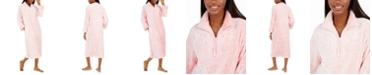 Miss Elaine Sculptured Brushed Fleece Long Zipper Robe