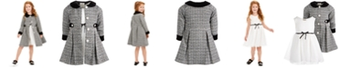 Blueberi Boulevard Toddler Girls 2-Pc. Classic Ribbon Dress & Tweed Jacket Set