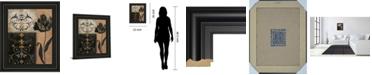 "Classy Art Tulip Silhouette by Tava Studio Framed Print Wall Art, 22"" x 26"""