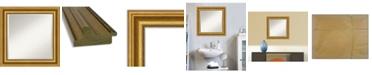"Amanti Art Parlor Gold-tone Framed Bathroom Vanity Wall Mirror, 25.62"" x 25.62"""